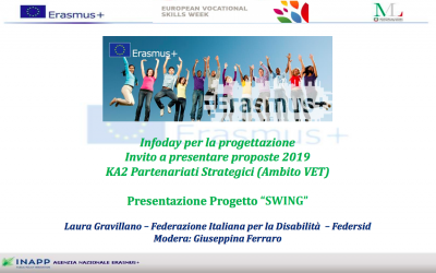 SWING presented at the Erasmus+ Infoday in Rome